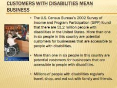 "link to the  presentation of ""customers with disabilities mean business"""