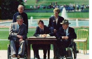 bush signing ADA act